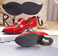 Туфли Gucci.Черные и красные.