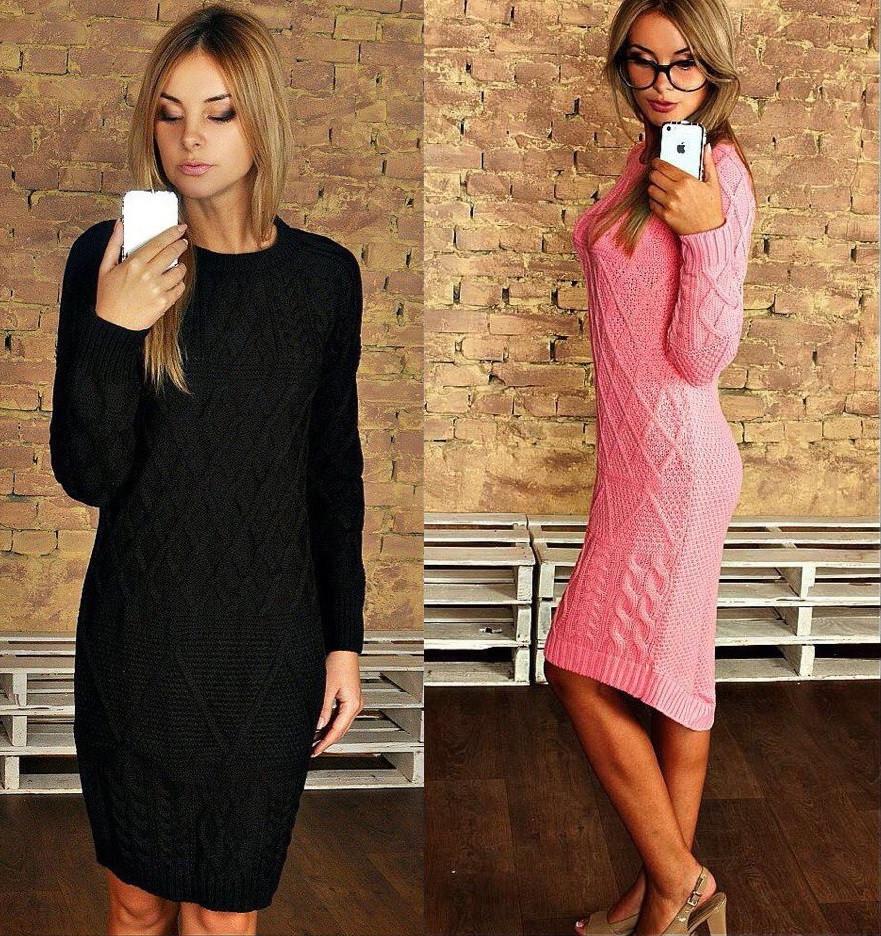 женское вязаное платье средней длины цена 435 грн купить в одессе