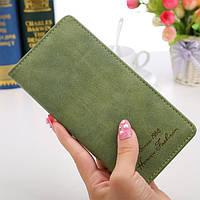 Винтажный женский кошелек fashion зеленый