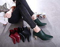 Стильные туфли на золотом каблуке