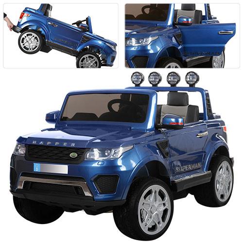 Детский электромобиль  M 3273 EBLRS-4: 12V, EVA, 2.4G, кожа - Синий-Покраска-купить оптом