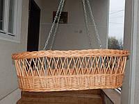 Плетеная детская люлька из лозы