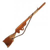 Деревянное ружьё  сделанное из карпатского бука 50см
