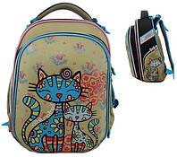 """Ранец School Case """"Cats"""" 2 відд, 39*28*21см, Nylon PL, 9627 CLASS"""