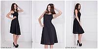 Воздушное летнее платье с свободной юбкой BLACK