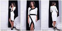 Оригинальное двухцветное платье WHITE