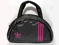 Спортивная женска сумка Adidas, серый/розовый  реплика, фото 1