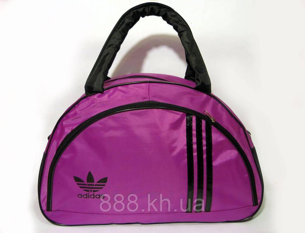 Спортивная женска сумка Adidas, сиреневый   реплика