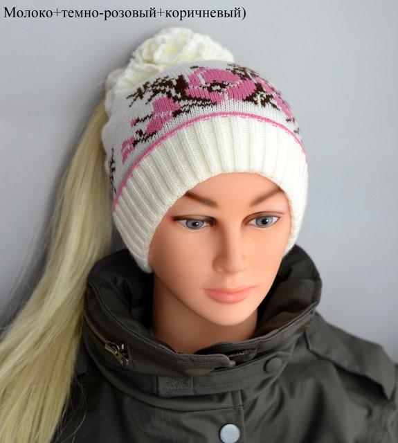 Весенняя двойная шапка для девочки