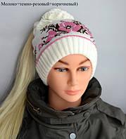 Весенняя двойная шапка для девочки, фото 1