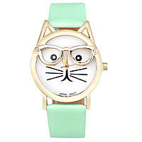 Стильные оригинальные  женские часы CAT, бирюзовые
