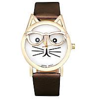 Стильные оригинальные  женские часы CAT, коричневые