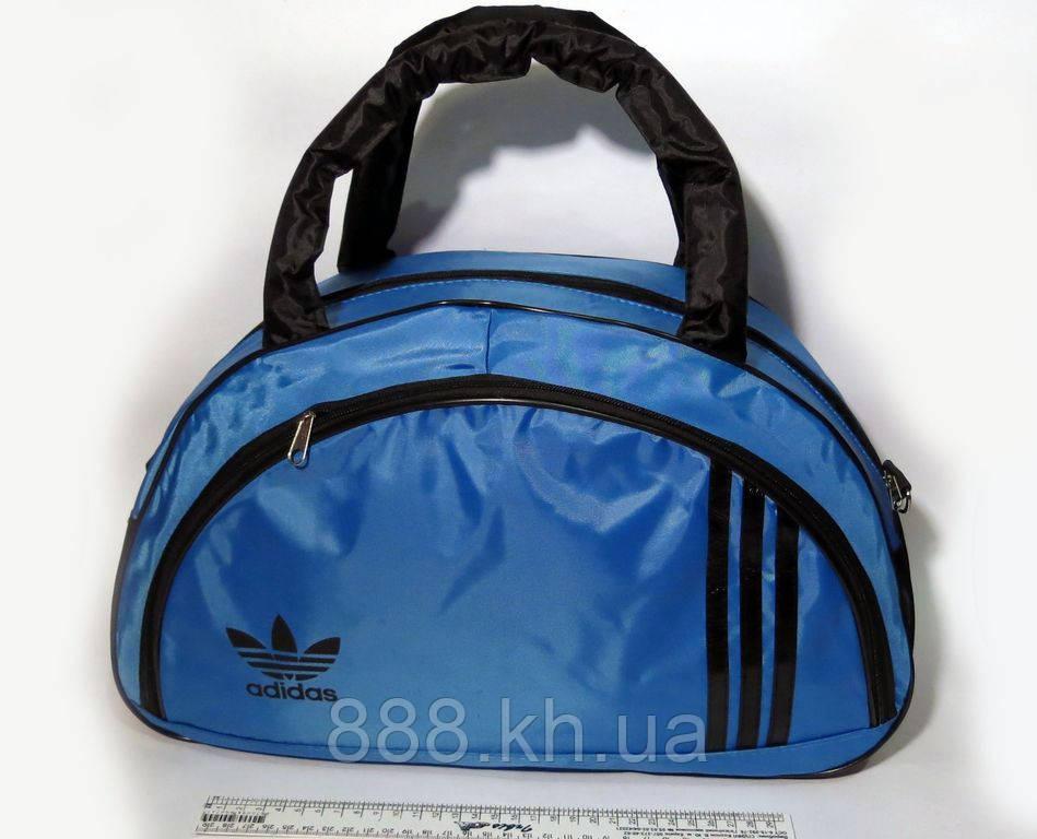 Спортивная женска сумка Adidas, синий/черный  реплика