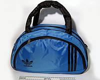 Спортивная женска сумка Adidas, синий/черный  реплика, фото 1