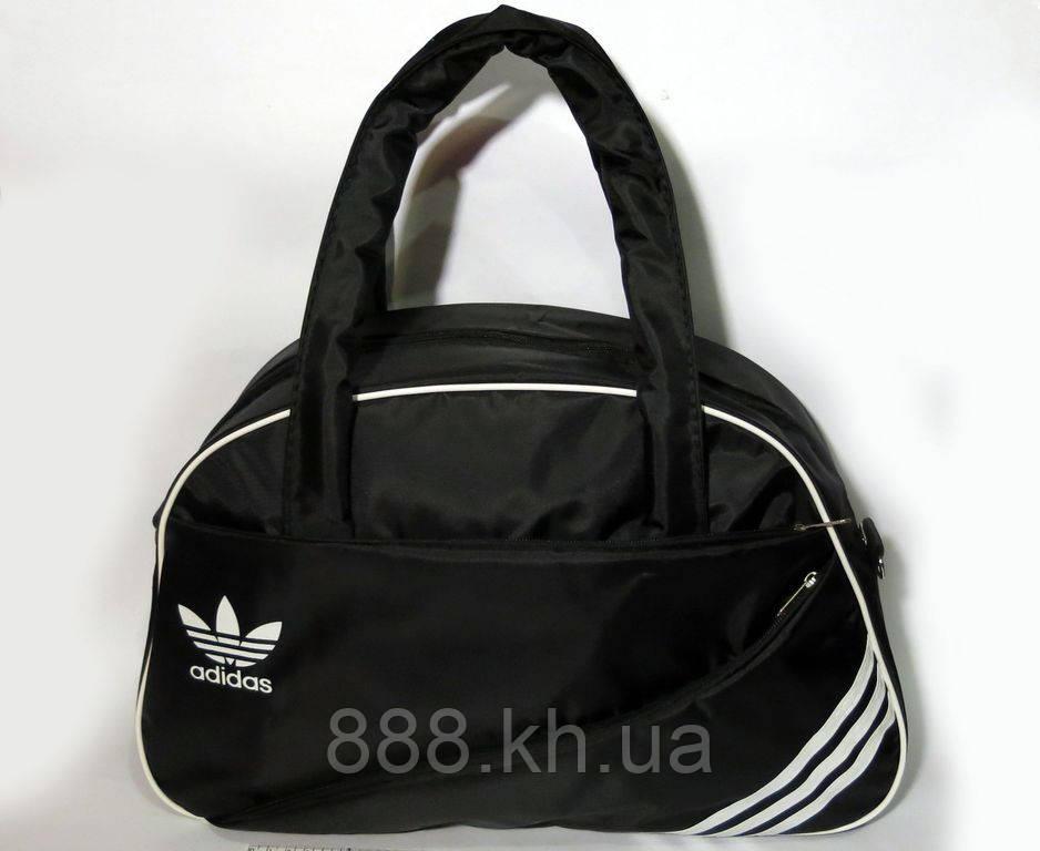 Спортивная женска сумка Adidas, фитнес сумка черный  реплика