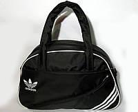 Спортивная женска сумка Adidas, фитнес сумка черный  реплика, фото 1