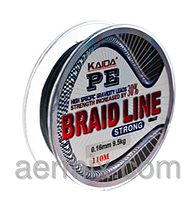 Плетенка BRAID LINE KAIDA strong YX-112-18, шнур рыболовный 110м толщина 0,18мм, шнур для спиннинга