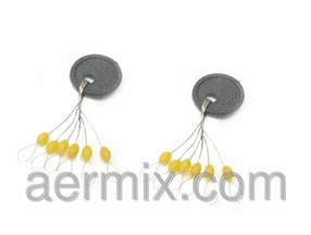 Стопор тройной жёлтый, стопор тройной на блистере, стопор для скользящего поплавка, рыболовные стопора