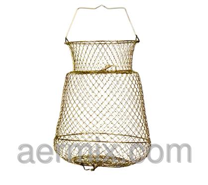 Садок металлический рыбацкий круглый 30см, садок для ловли рыбы круглый, садок для рыбалки, фото 2