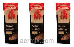 Самодур силиконовый красный KAIDA, приманки для рыбалки, самодур рыболовная снасть, приманка самодур