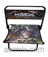 Стул складной со спинкой Kaida, раскладной стул для рыбалки и отдыха, стул туристический, кресло раскладное