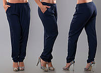 Женские брюки на резинке с карманами, батал