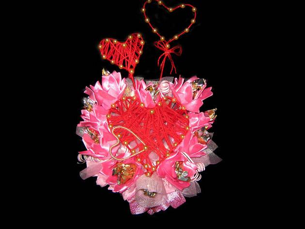Букет из конфет на День Влюбленных, фото 2
