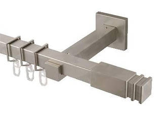 Карниз для штор квадро 20х20 мм, одинарный, наконечник Заноти