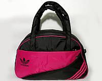 Спортивная женска сумка Adidas, фитнес сумка черный/красный  реплика, фото 1