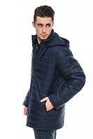 Длинная мужская зимняя куртка, синий, 46-58 размеры