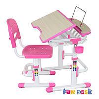 Комплект парта и стул-трансформеры FunDesk Colore Pink