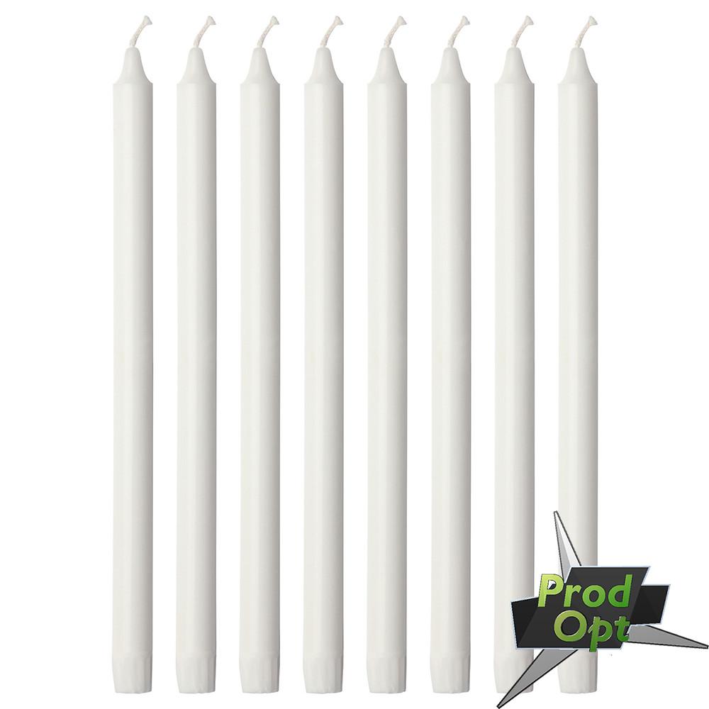 Свічка 1 шт Біла 18 см Польща