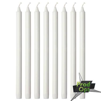 Свічка 1 шт Біла 18 см Польща  , фото 2
