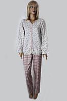 "Теплая женская пижама на пуговицах ""Kapitone"" Angelina №10389, фото 1"