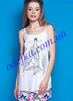 Домашнее платье, сорочка женская LND 030/001 (ELLEN). Коллекция весна-лето 2017! Спешите быть первыми!