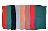 Однотонный малиновый шифоновый платок, фото 3