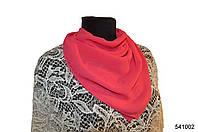 Однотонный малиновый шифоновый платок, фото 1