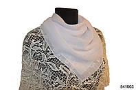 Однотонный белый шифоновый платок