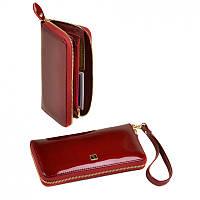Красный кошелек Bretton кожаный на молнии
