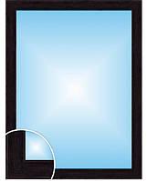 Влагостойкое зеркало в багете, цвет «Венге» (размер 80х60 см)