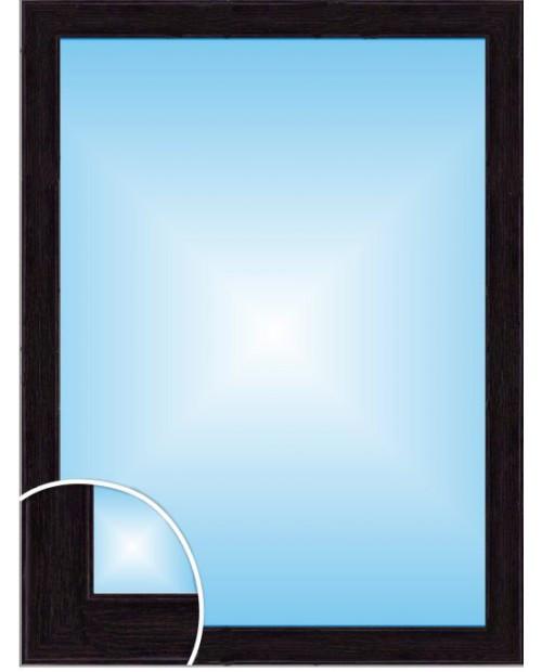 Влагостойкое зеркало в багете, цвет «Венге»