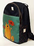 Джинсовый рюкзак с днем рождения, фото 2