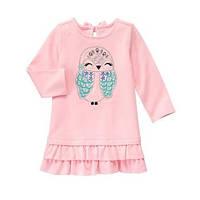 Платье с длинным рукавом на девочку 1, 2, 3, 4 года Owl Dress Gymboree (США)