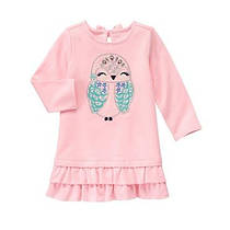 Платье с длинным рукавом на девочку 1-2-3-4 года Owl Dress Gymboree (США)