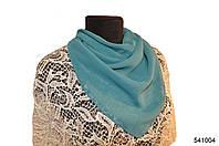 Однотонный темно-бирюзовый шифоновый платок, фото 1