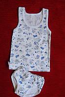Детский комплект белья для мальчика с зайчиками размер 28,30