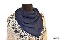 Однотонный темно-синий шифоновый платок