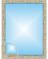 Зеркало в багетной раме серо-золотого цвета, размер 80х60 см