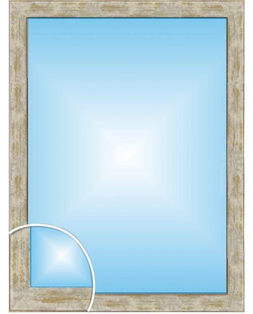 Зеркало в багетной раме серо-золотого цвета