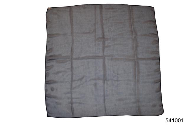 Однотонный темно-синий легкий шифоновый платок 2